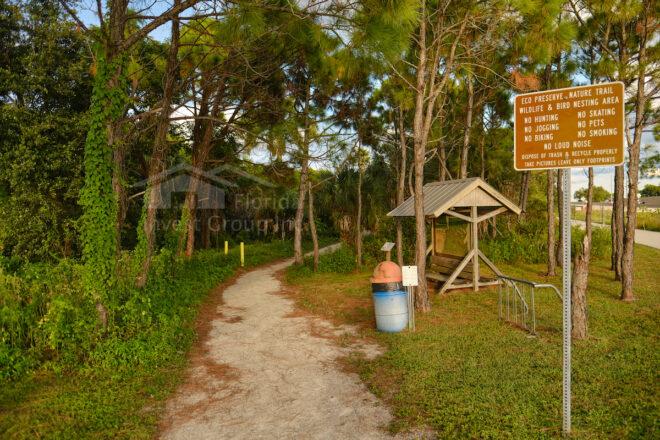 Four Mile Cove Ecological Preserve Entrance Cape Coral Florida